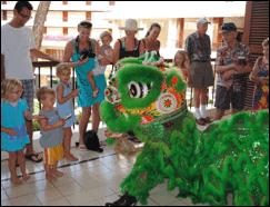 Au's Shaolin Arts Society Chinese Lion Dance Performance. Photo courtesy of Makena Beach & Golf Resort.