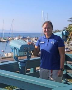 Marine naturalist at new Māʻalaea Lookout. Photo credit Maui Ocean Center.