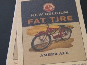 Fat Tire Amber Ale coaster. Photo by Kiaora Bohlool.