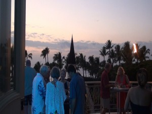 Sunset on the lanai at Grand Wailea for James Beard Foundation's Celebrity Chef Tour. Photo by Kiaora Bohlool.