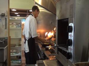 Chef at work at Maui Pasta Company. Photo by Kiaora Bohlool.