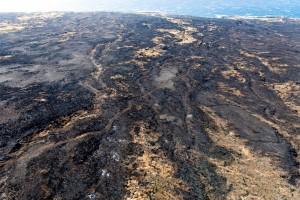 Kahikinui Brush Fire as of 2.18.2016 (Photo: Ryan Piros)
