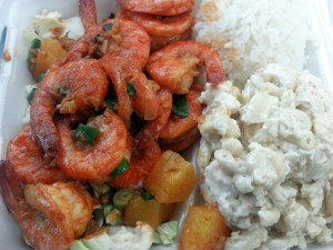 Shrimp meal from Geste Shrimp Truck. Photo courtesy of Flickr/Jennifer Cachola.