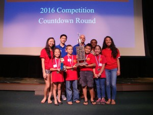 1st Place Team - Pukalani Elementary School (with Perpetual Trophy). Courtesy photo.