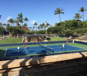 Playsight at Royal Lahaina Tennis Ranch. Courtesy photo.