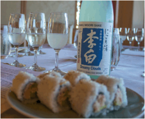 "Rihaku ""Dreamy Clouds"" Sake, part of Mākena Beach & Golf Resort's first-ever Sake Dinner.  Courtesy photo."