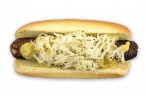 New Buffalo Bratwurst, from Hank's Haute Dogs.  Courtesy photo.