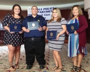 Dispatchers honored: Ms. Lyndsey Kahuhu, Mr. Joseph Souza, Ms Selina Agunoy, Ms. Stacey Baraoidan