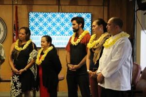 Maui Mavericks: (l to r) Joylynn Paman, Nāpua Greig-Nakasone, Kainoa Horcajo, Denby Freeland-Cole and Perry Bateman. Photo by Wendy Osher.
