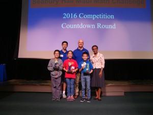 Overall individual competition: Derek Takeno (Pōmaikaʻi Elementary School); Maya Ito (Pukalani Elementary School); Akira Iwata (Kahului Elementary School). Courtesy photo.