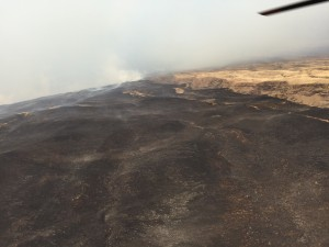 Kahikinui fire, Feb. 16, 2016. Photo credit: Maui Fire Department.
