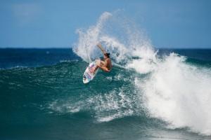 Professional surfer Malia Manuel will serve as an ambassador Kona Deep drinking water. Photo courtesy of Ryan Miller.