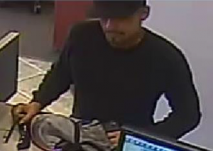 Robbery suspect. Surveillance image courtesy: Maui Police Department.