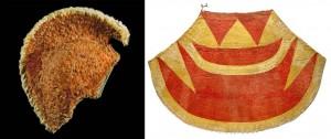 ʻAhu ʻUla (cloak) and Mahiole (feathered helmet); 09.1997; Hall, Michael. Images courtesy: Te Papa Tongarewa.