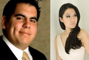 Pianist Julio Elizalde and Violinist Sarah Chang. Courtesy photo.