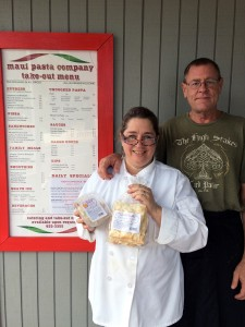 Patricia and Ron Inman showcase their specialties at Maui Pasta Company in Waikapū. Photo courtesy of Patricia Inman.