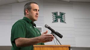 University of Hawaii head football coach Nick Rolovich completed his first signing class with the announcement of 18 signees on National Signing Day, Wednesday, the first day prospects may sign a National Letter of Intent. Photo courtesy of UH Athletics.