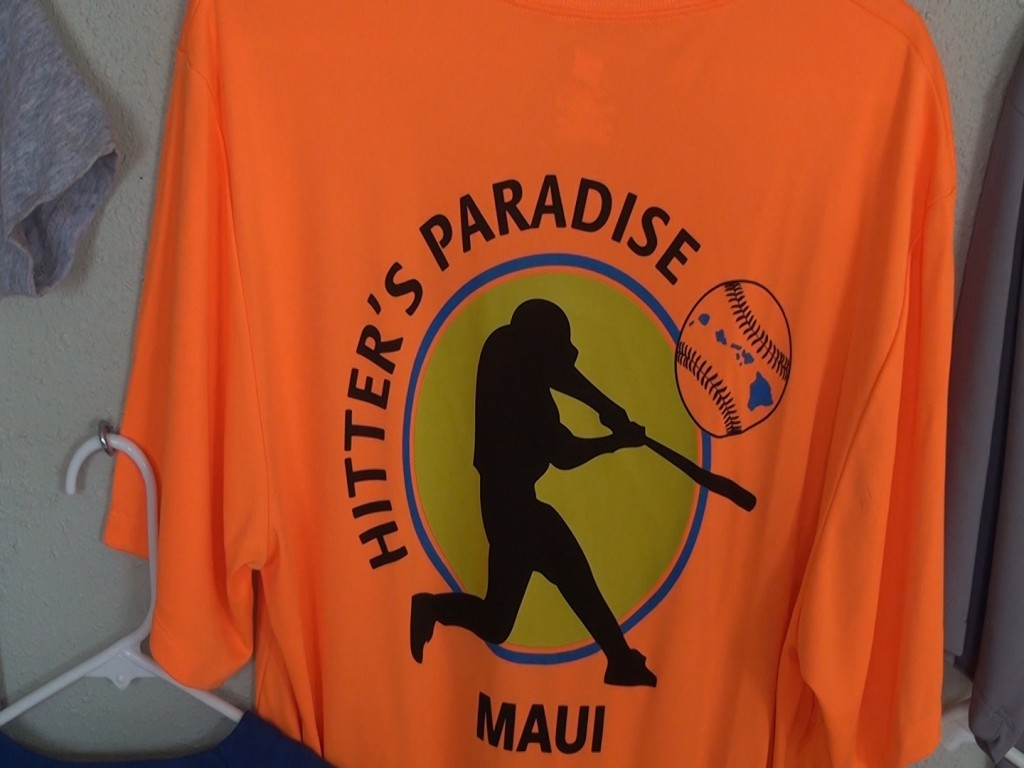 T-shirts from Hitter's Paradise. The owner says all the XL sizes were stolen. Photo by Kiaora Bohlool.