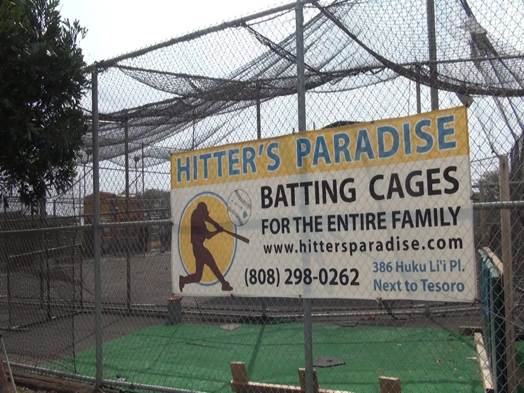 Hitter's Paradise batting cages in Kīhei. Photo by Kiaora Bohlool.