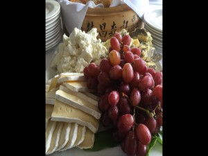 Cheeses and fruits at Gannon's. Photo by Bret Pafford.