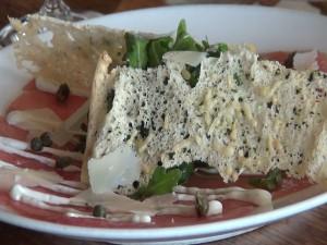 Ahi Carpaccio, a Joe's restaurant favorite that is now on the menu at Gannon's in Wailea. Photo by Kiaora Bohlool.