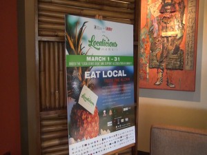 Localicious Month poster at Roy's Kā'anapali. Photo by Kiaora Bohlool.