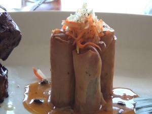 Pork and shrimp lumpia, on the menu at Roy's. Photo by Kiaora Bohlool.