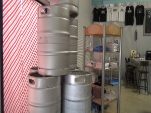 Kegs at Koholā Brewery in Lahaina. Photo by Kiaora Bohlool.