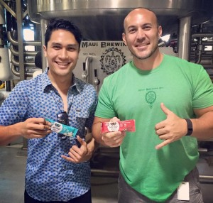 State Representative Kaniela Ing (left) at Maui Brewing Co., which recently announced their soon-to-be released promotional Hemp beer.