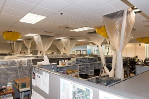 Storm-damaged offices at the Maui County Division of Motor Vehicles and Licensing. Photo credit: County of Maui / Ryan Piros