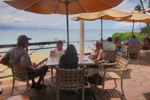 Outdoor dining at the Sea House Restaurant in Napili. Photo courtesy of Flickr/Andym5855.