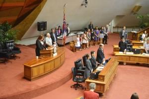 Amy Hanaialiʻi at the State Capitol. Courtesy photo. (3.18.16)