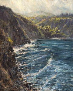 4 - 2016 MPAPI Honor Hawaii Honor Maui Award Montage Kapalua Bay awards 'Honolua Bay Shimmer' Oil on linen on board 20x16 James McGrew
