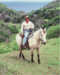 "David ""Buddy"" Nobriga of Maui Soda & Ice Works on his horse. Courtesy photo."