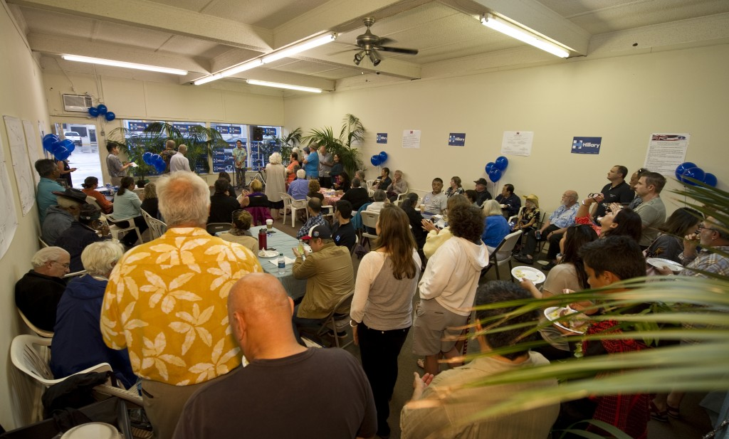 Maui Campaign Office opens for Hillary Clinton (3.17.16). Courtesy photo.
