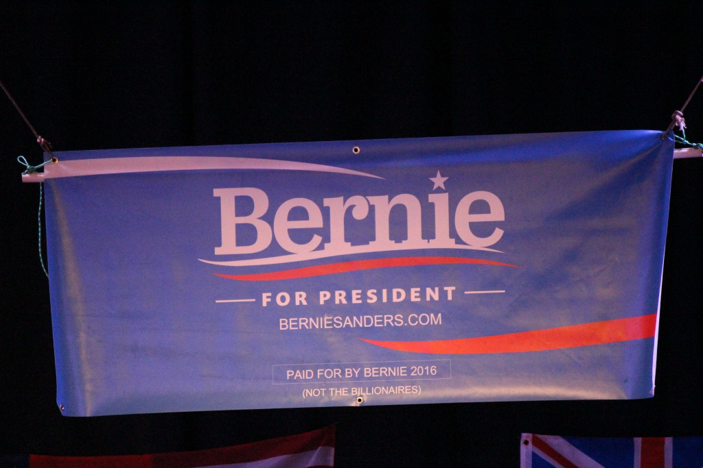 Bernie Sanders campaign sign. Photo by Wendy Osher.