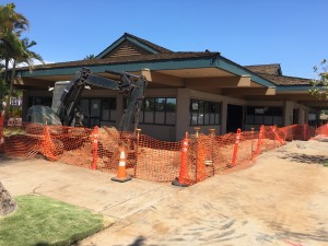 Azeka Shopping Center in Kīhei is remodeling the former Stella Blues Cafe location to accommodate four new business—two retailers and two restaurants. Debra Lordan photo.