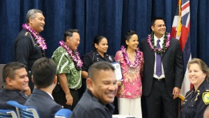 Officer Janae Balag. Maui Police Department, 6th Crisis Intervention Team graduation. Photo by Wendy Osher. (3/11/16)