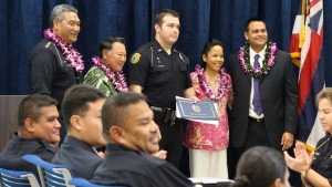 Officer Michael Bocon III. Maui Police Department, 6th Crisis Intervention Team graduation. Photo by Wendy Osher. (3/11/16)