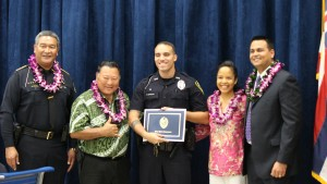Officer Gregory Boteilho. Maui Police Department, 6th Crisis Intervention Team graduation. Photo by Wendy Osher. (3/11/16)