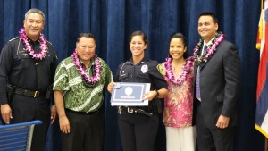 Officer Bethany Cravalho. Maui Police Department, 6th Crisis Intervention Team graduation. Photo by Wendy Osher. (3/11/16)