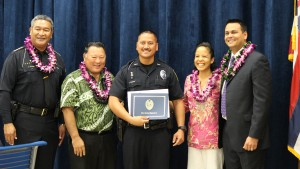Officer Jared Dudoit. Maui Police Department, 6th Crisis Intervention Team graduation. Photo by Wendy Osher. (3/11/16)