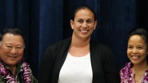 Renee Friend Maui Memorial Medical Center Molokini Ward Nurse. Maui Police Department, 6th Crisis Intervention Team graduation. Photo by Wendy Osher. (3/11/16)