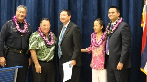 Judge Kelsey Kawano Second Circuit District Court. Maui Police Department, 6th Crisis Intervention Team graduation. Photo by Wendy Osher. (3/11/16)
