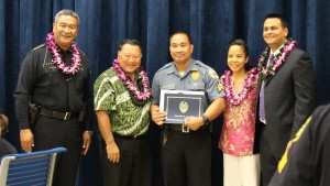 Sgt. Nick Manzanillo Maui County Correctional Center. Maui Police Department, 6th Crisis Intervention Team graduation. Photo by Wendy Osher. (3/11/16)
