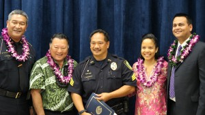 Sgt. Lawrence Pagaduan III. Maui Police Department, 6th Crisis Intervention Team graduation. Photo by Wendy Osher. (3/11/16)