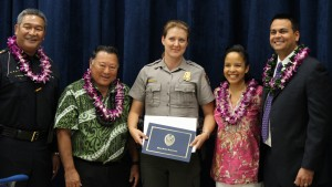 Virginia Thiel National Park Service Ranger. Maui Police Department, 6th Crisis Intervention Team graduation. Photo by Wendy Osher. (3/11/16)