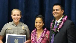 Victoria Van Duzer National Park Service Ranger. Maui Police Department, 6th Crisis Intervention Team graduation. Photo by Wendy Osher. (3/11/16)