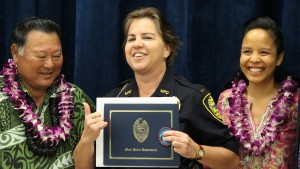 Maui Police Department, 6th Crisis Intervention Lt. Jamie Winfrey. Team graduation. Photo by Wendy Osher. (3/11/16)