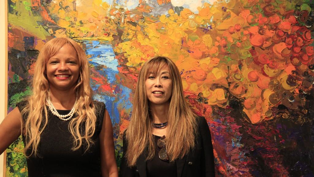Indigo Ball Gallery Director (Left) Regina Cheung-Rasse Art Consultant (Right) Linare_Brecht Fine Art. Photo credit: Marlo Antes.